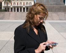 image of woman using smart phone